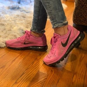 NIKE AIR MAX pink sneakers size 7 1/2